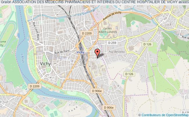 plan association Association Des Medecins Pharmaciens Et Internes Du Centre Hospitalier De Vichy