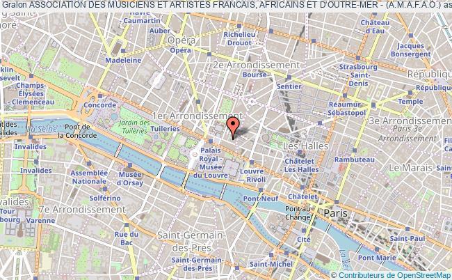 plan association Association Des Musiciens Et Artistes Francais, Africains Et D'outre-mer - (a.m.a.f.a.o.)