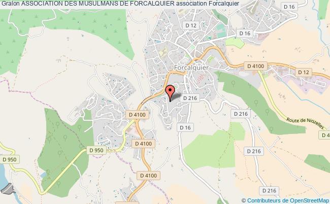 plan association Association Des Musulmans De Forcalquier