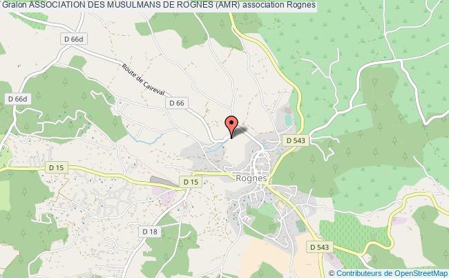 plan association Association Des Musulmans De Rognes (amr)