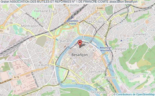 plan association Association Des Mutiles Et Reformes N° 1 De Franche-comte