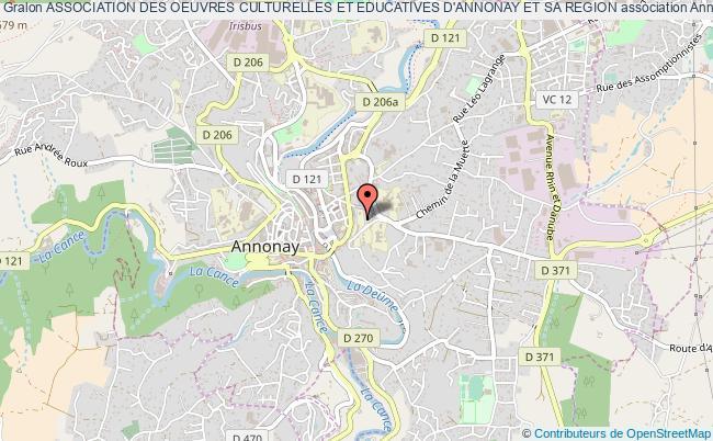 plan association Association Des Oeuvres Culturelles Et Educatives D'annonay Et Sa Region Annonay