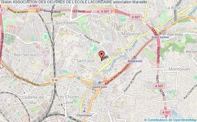plan association Association Des Oeuvres De L'ecole Lacordaire Marseille