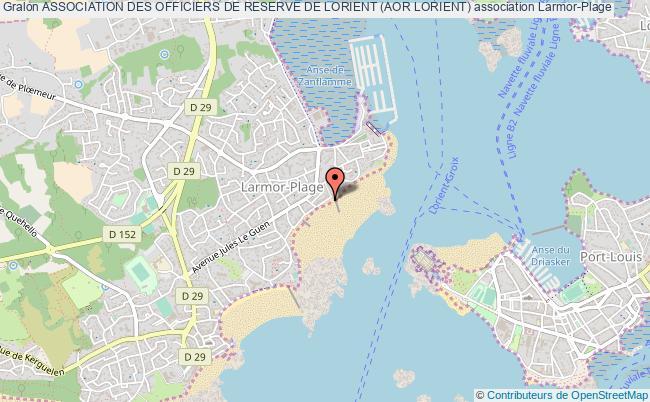 plan association Association Des Officiers De Reserve De Lorient (aor Lorient)