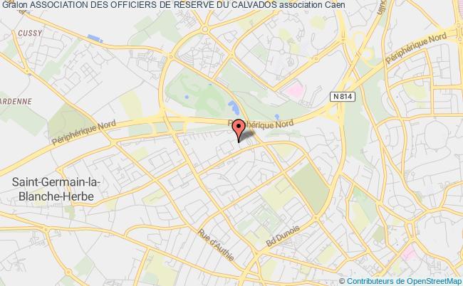 plan association Association Des Officiers De Reserve Du Calvados Caen