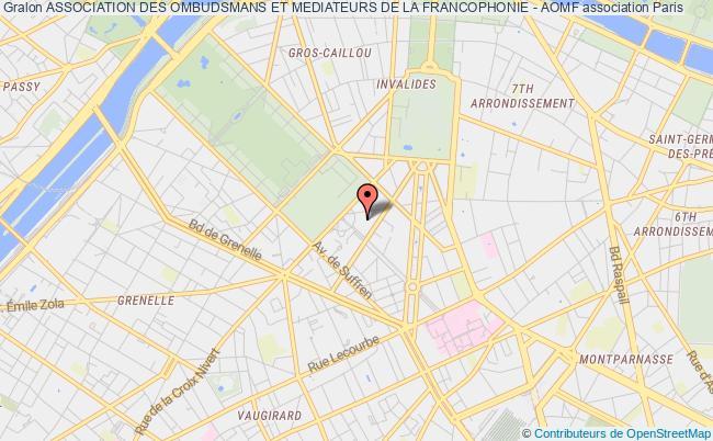 plan association Association Des Ombudsmans Et Mediateurs De La Francophonie - Aomf PARIS