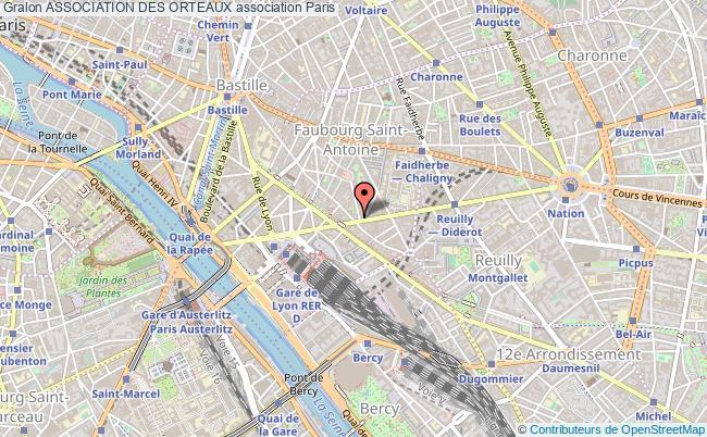 plan association Association Des Orteaux Paris 12e