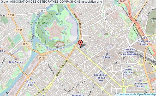 plan association Association Des OstÉopathes Compagnons Lille