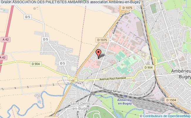 plan association Association Des Paletistes Ambarrois Ambérieu-en-Bugey