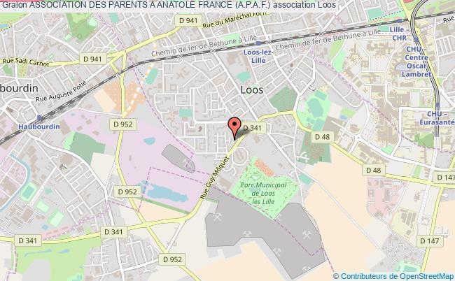 plan association Association Des Parents A Anatole France (a.p.a.f.) Loos