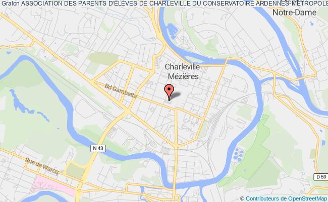 plan association Association Des Parents D'eleves, Eleves, Anciens Eleves Et Amis Du Conservatoire A Rayonnement Departemental De Charleville-mezieres