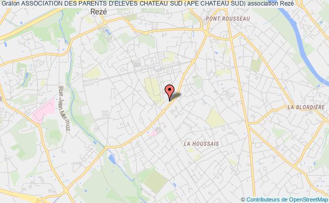 plan association Association Des Parents D'eleves Chateau Sud (ape Chateau Sud)