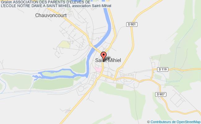 plan association Association Des Parents D'eleves De L'ecole Notre Dame A Saint Mihiel