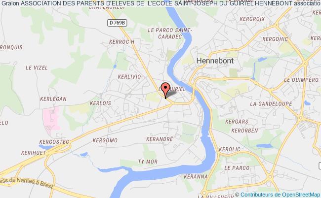 plan association Association Des Parents D'eleves De  L'ecole Saint-joseph Du Guiriel Hennebont Hennebont
