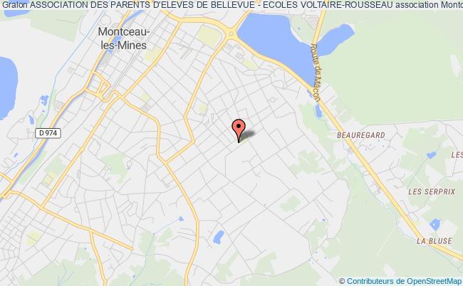 plan association Association Des Parents D'eleves De Bellevue - Ecoles Voltaire-rousseau