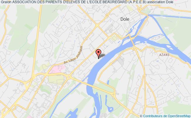 plan association Association Des Parents D'eleves De L'ecole Beauregard (a.p.e.e.b) Dole