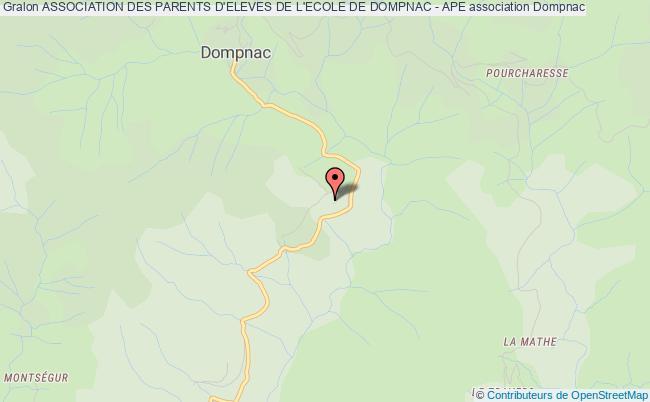 plan association Association Des Parents D'eleves De L'ecole De Dompnac - Ape