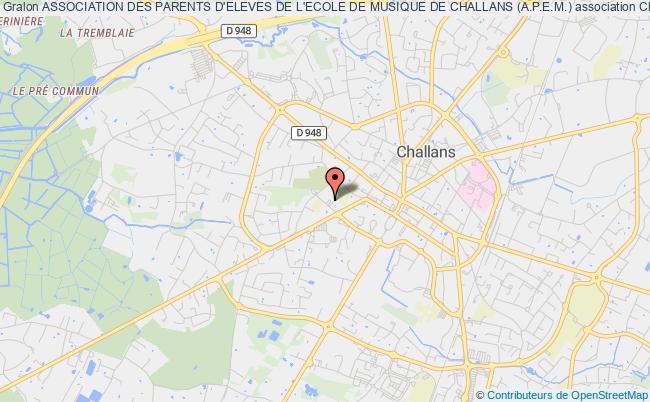 plan association Association Des Parents D'eleves De L'ecole De Musique De Challans (a.p.e.m.)