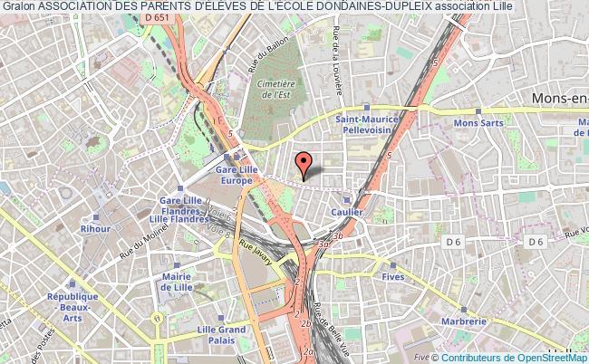 plan association Association Des Parents D'ÉlÈves De L'École Dondaines-dupleix