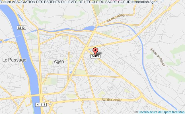 plan association Association Des Parents D'eleves De L'ecole Du Sacre Coeur
