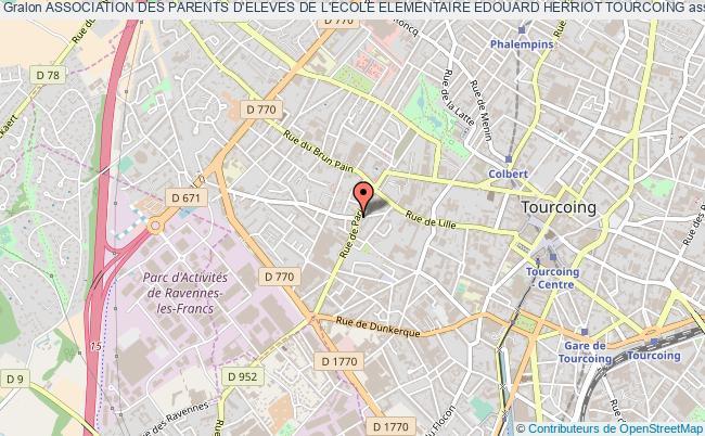 plan association Association Des Parents D'eleves De L'ecole Elementaire Edouard Herriot Tourcoing