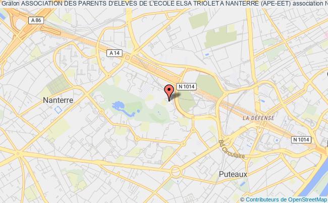 plan association Association Des Parents D'eleves De L'ecole Elsa Triolet A Nanterre (ape-eet)