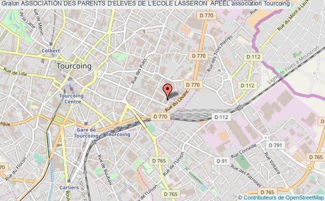 plan association Association Des Parents D'eleves De L'ecole Lasseron  Apeel