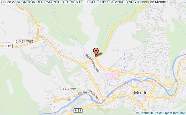 plan association Association Des Parents D'eleves De L'ecole Libre Jeanne D'arc