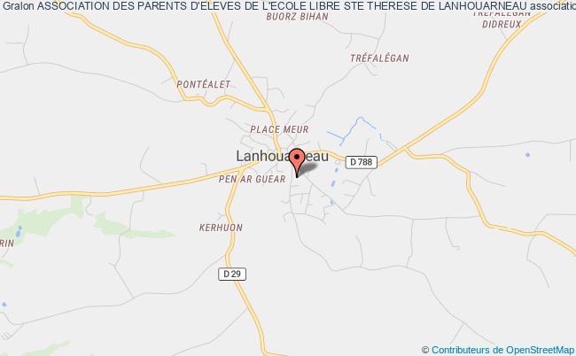 plan association Association Des Parents D'eleves De L'ecole Libre Ste Therese De Lanhouarneau