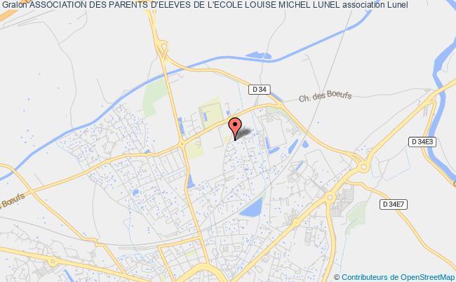 plan association Association Des Parents D'eleves De L'ecole Louise Michel Lunel