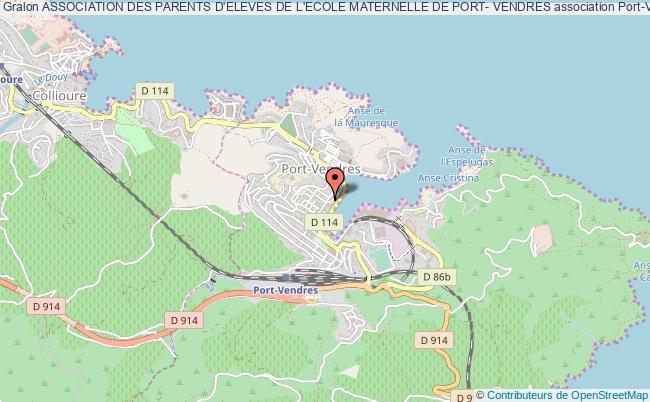 plan association Association Des Parents D'eleves De L'ecole Maternelle De Port- Vendres