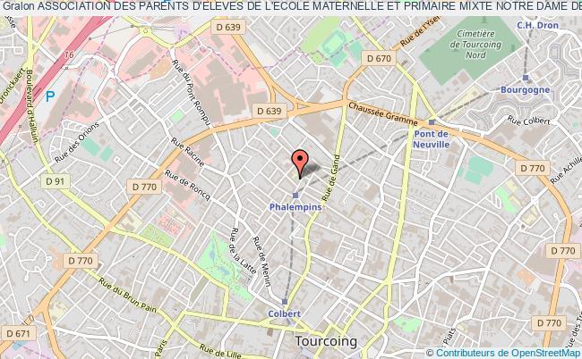 plan association Association Des Parents D'eleves De L'ecole Maternelle Et Primaire Mixte Notre Dame De Lourdes