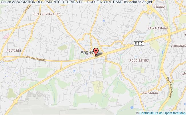 plan association Association Des Parents D'eleves De L'ecole Notre Dame