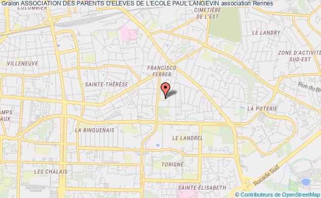 plan association Association Des Parents D'eleves De L'ecole Paul Langevin