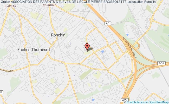 plan association Association Des Parents D'eleves De L'ecole Pierre Brossolette Ronchin