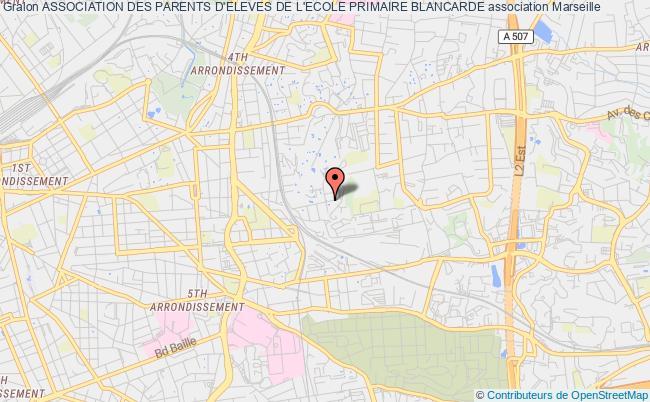 plan association Association Des Parents D'eleves De L'ecole Primaire Blancarde Marseille 12