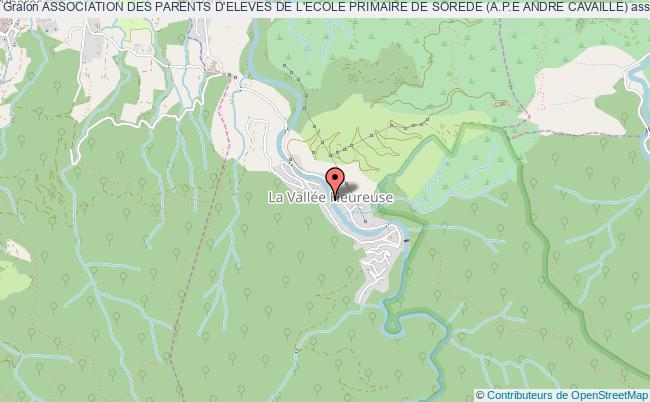 plan association Association Des Parents D'eleves De L'ecole Primaire De Sorede (a.p.e Andre Cavaille)