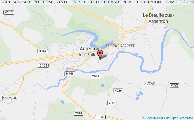 plan association Association Des Parents D'eleves De L'ecole Primaire Privee D'argenton-les-vallees