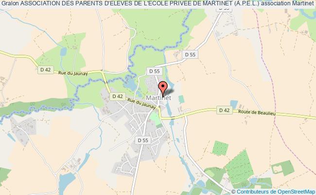 plan association Association Des Parents D'eleves De L'ecole Privee De Martinet (a.p.e.l.) Martinet