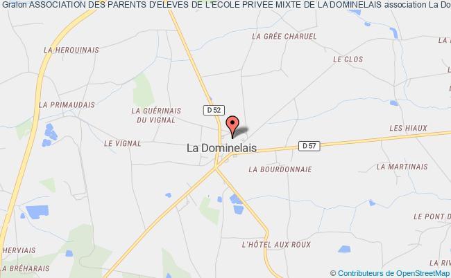 plan association Association Des Parents D'eleves De L'ecole Privee Mixte De La Dominelais La    Dominelais
