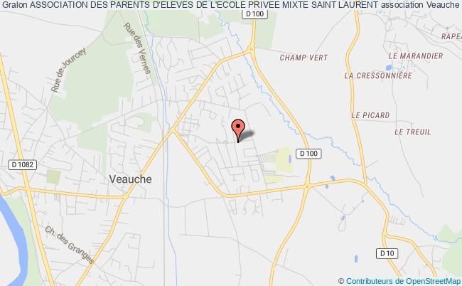 plan association Association Des Parents D'eleves De L'ecole Privee Mixte Saint Laurent Veauche