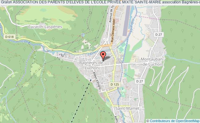 plan association Association Des Parents D'eleves De L'ecole Privee Mixte Sainte-marie Bagnères-de-Luchon