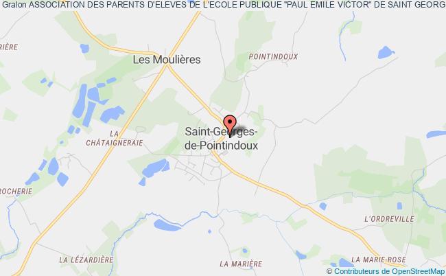 """plan association Association Des Parents D'eleves De L'ecole Publique """"paul Emile Victor"""" De Saint Georges-de-pointindoux Saint-Georges-de-Pointindoux"""