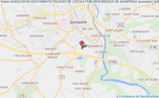 plan association Association Des Parents D'eleves De L'ecole Publique Brizeux De Quimperle