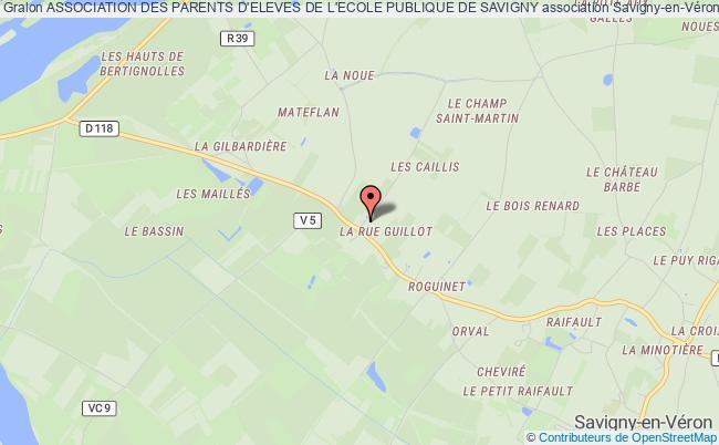 plan association Association Des Parents D'eleves De L'ecole Publique De Savigny Savigny-en-Véron