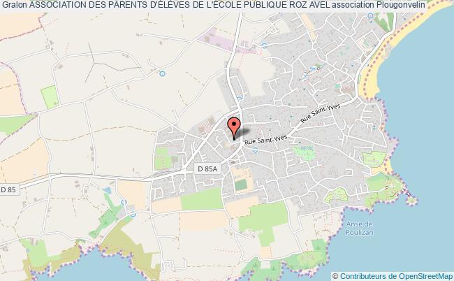plan association Association Des Parents D'ÉlÈves De L'École Publique Roz Avel
