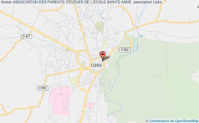 plan association Association Des Parents D'eleves De L'ecole Sainte Anne. Uzès