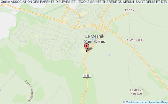 plan association Association Des Parents D'eleves De L'ecole Sainte Therese Du Mesnil Saint Denis Et D'elancourt LE MESNIL SAINT DENIS