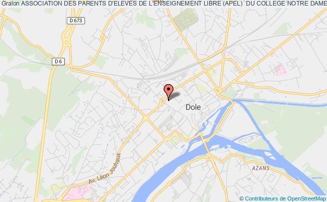 plan association Association Des Parents D'eleves De L'enseignement Libre (apel)  Du College Notre Dame De Mont-roland Dole