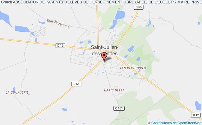 plan association Association Des Parents D'eleves De L'enseignement Libre (apel) De L'ecole Primaire Sainte Marie-saint-julien-des-landes Saint-Julien-des-Landes